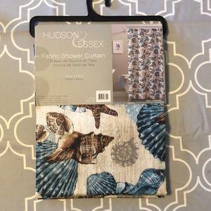 Fabric Shower Curtain NIP Shell Treasure Blue